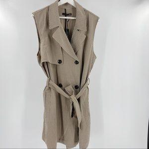 Black Tape Houndstooth sleeveless waist coat